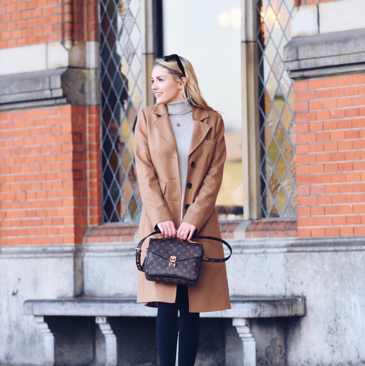 Turtle Neck Dress & Camel Coat