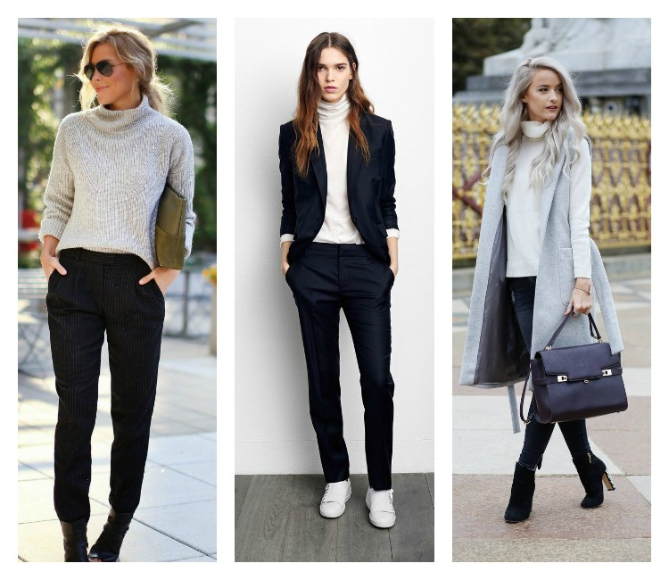 How to style a white turtle neck